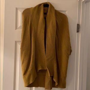 Mustard open sweater